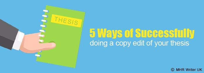 Ways of Professional Copy Edit of Your Thesis