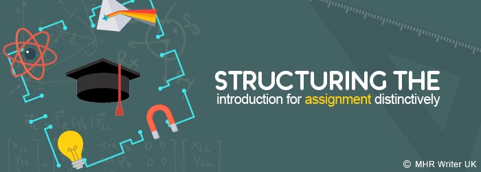 Structuring the Introduction of an Assignment Distinctively